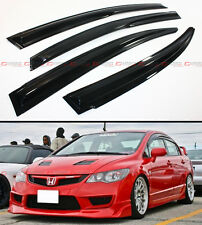 MUG STYLE JDM SMOKE WINDOW VISOR RAIN SHADE FOR 2006-2011 FA FA5 HONDA CIVIC 4D
