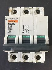 Merlin Gerin Multi 9 C60HB B25 25A 3 Phase MCB