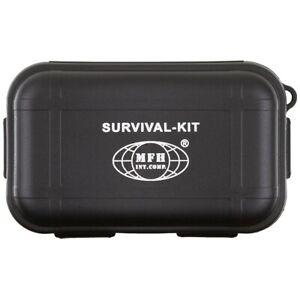 MFH Cassetta in plastica Kit di sopravvivenza 22 pezzi campeggio escursionismo