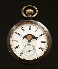 Great Moon Phase Calendar Pocket Watch Baume London c.1900 / montre gousset