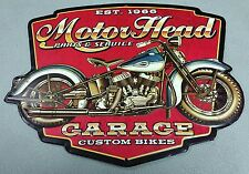 MOTOR HEAD GARAGE PARTS SERVICE INDIAN CHIEF HARLEY DAVIDSON MOTORCYCLE SIGNS