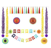 Birthday Decorations for Girls Boys | Rainbow Party Supplies for Kids Princess P