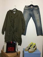 =ART= ACNE STUDIOS Taupe Neon Yellow Cut Out High Top Heels Boots Shoes US 10