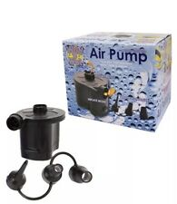 6V Battery Operated Air Pump with 3 Nozzles Air bed Boats Deflated And Inflated