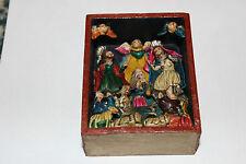 Miniature Wood Carved Religious Scene-Shadowbox-Jesus Mary Joseph-Christianity