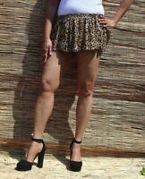 Laser Cut Mini Skirt Ladies Girls Micro Short Party Women/'s PVC Stretch 033