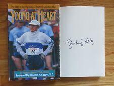 Johnny Kelley signed Young at Heart 1992 1st Ed Book 60 Boston Marathons Coa