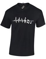 MUSICIAN EKG ECG MENS T-SHIRT GUITAR PLAYER MUSIC FENDER DRUMMER GUITARIST NEW