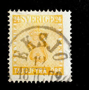 Sweden circa 1858 VFU 24 ore  stamp LH