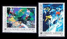 UN United Nations Vienna 1988 MNH 2v, Sports, Painting, Tennis, Water Sports,