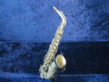 The Buescher Silver True Tone Alto Saxophone Ser#128671 w/Gold Wash Bell