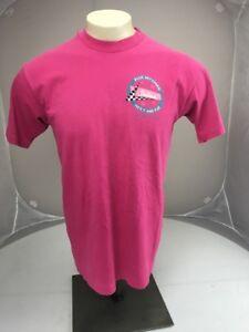 VTG 90s STELLAS BLUE SKY DINER Des moines IOWA pink travel souvenir tshirt L USA