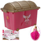 Princess Toys Box Storage Kids Girls Chest Bedroom Clothes Playroom Childrens
