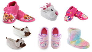 Girls Paw Patrol Slippers Frozen Pug Official CHARACTER NOVELTY SLIPPERS