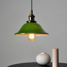 Green Glass Lampshade Pendant Light Lamp Ceiling Fixture Decor Diameter 25cm