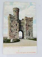 Vintage Real Photo Souvenir Post Card Co Bancroft Tower Worchester Mass 1910's?