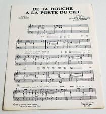 Partition sheet music LINDA DE SUZA : De ta Bouche à la Porte du Ciel * 70's
