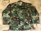 US Army Camo BDU Shirt SETAF w/ Airborne Tab & Staff Sergeant Ranks Med-Reg