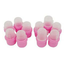 10PCS Wearable Soaker Wrap Cleaner Clip Cap Gel Polish Remover UV Nail Art