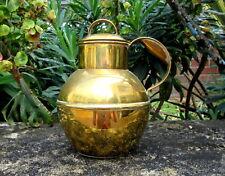 More details for vintage brass guernsey churn / creamer / milk jug retailer r.g.acnew l 1/2 size