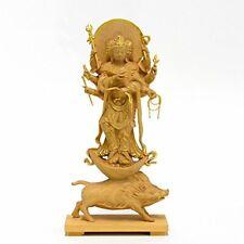 Marishiten Standing Buddha Statue Japan 13.5cm wood