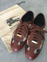 Burberry Leather Canvas Lace up Sneaker Size 37