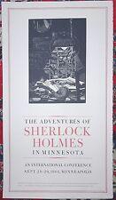 BARRY MOSER Original Woodcut Broadside Adventures Of SHERLOCK HOLMES Ltd SIGNED