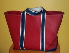 VINTAGE L.L. BEAN BOAT AND TOTE RED BAG TOTE LARGE