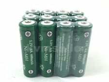 12 pcs Rechargeable NiMH AA 600 mAh Batteries for Solar-Powered Lights G12