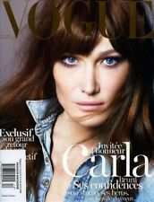 Vogue France Paris Magazine 12/2012 fashion women CARLA BRUNI SARKOZY