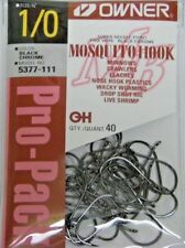 OWNER MOSQUITO HOOK FINE WIRE BASS FISHING #5377-111 SZ 1/0 QTY 40