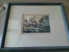 Charles B Mitchell Wolf Point Reflections Wood Framed Print Autog/Signed