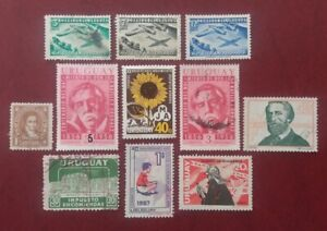 URUGUAY Latin America Used Lot Agriculture Sunflower Aviation Airplanes 1328