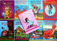 10 x Assorted Mini Puzzle Colour Sticker A6 Books Children Party Bag Fillers