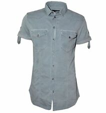 Figurbetonte Herren-Freizeithemden & -Shirts mit Kurzarm-Ärmelart aus Denim ohne Mehrstückpackung