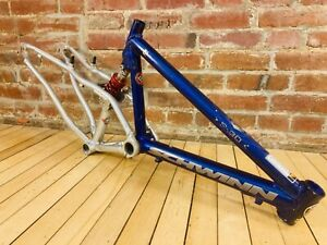 "Schwinn S-30 Full Suspension Mountain Bike Frame 17"" RockShox Coil Purple COOL!"