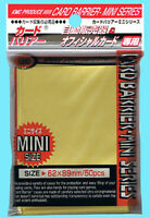 50 KMC MINI SUPER GOLD Small Card Barrier Sleeves Deck Protector yugioh vanguard
