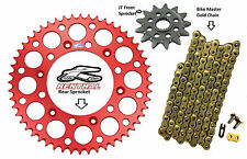 Renthal Red Sprocket and Gold Chain Kit Honda CRF250r CRF Crf250 04-15 14-49T
