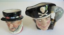 New ListingPair of Royal Doulton Character Toby Jugs Beefeater and Long John Silver