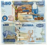 ZAMBIA 50 KWACHA 2014 P 53 NEW SIGN UNC