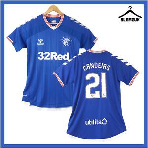 Glasgow Rangers Football Shirt Hummel XL Home Soccer Jersey Candeias 21 2019 C46