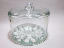 Clear heavy glass Cheese Preserver Sanitary Maytag Dairy Newton IA NM shape