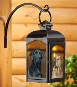Sunset Dogs - Retrievers Candle Lantern (Black) by Scot Storm