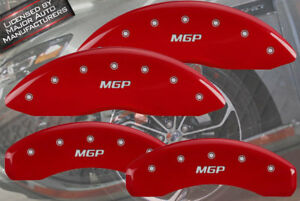 "2011-2018 Jeep Grand Cherokee Front + Rear Red ""MGP"" Brake Caliper Covers BRY"