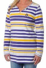 East Carolina Pirates Women's Long Sleeve Striped Tunic Fleece Top, XL - NEW!