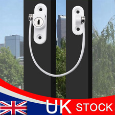 White Window Door Cable Restrictor Ventilator Child Safety Security Lock UK