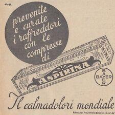 Y3726 Aspirina Bayer - Pubblicità d'epoca - 1937 vintage advertising
