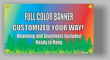 4'x8' Custom Vinyl Banner Single Sided 13oz Full Color - Free Design Included