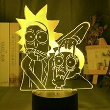 """Morty/""""20 Colors Rick and Morty Lamp Atmospheric Night Light /""""Open Your Eyes"""