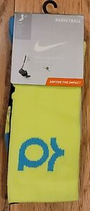 Nike Men's Hyper Elite KD Cushioned Basketball Socks Yellow SX4814 714 Size 6-8